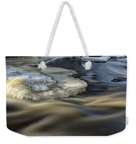 Eau Claire Dells Park River Ice Weekender Tote Bag