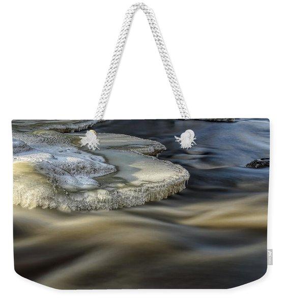 Eau Claire Dells Park River Ice Weekender Tote Bag
