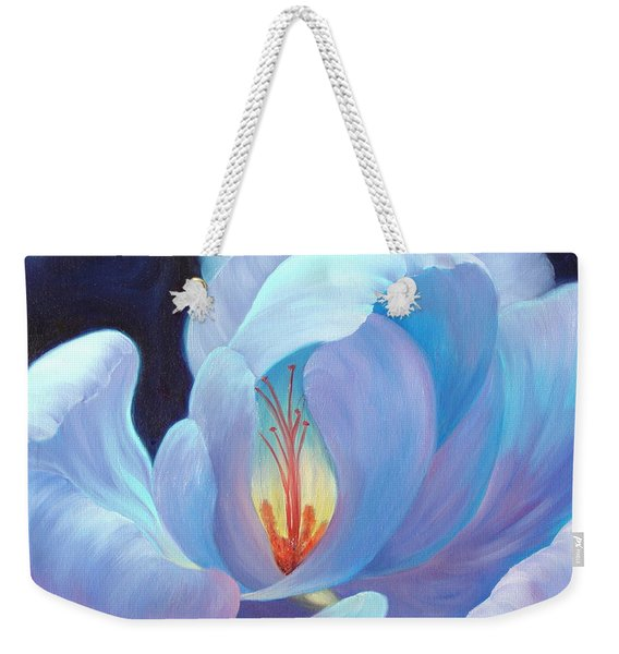 Weekender Tote Bag featuring the painting Ecstasy by Sandi Whetzel