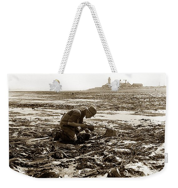 Ed Ricketts At Point Wilson Lighthouse In Port Townsend Wa July 1930 Weekender Tote Bag