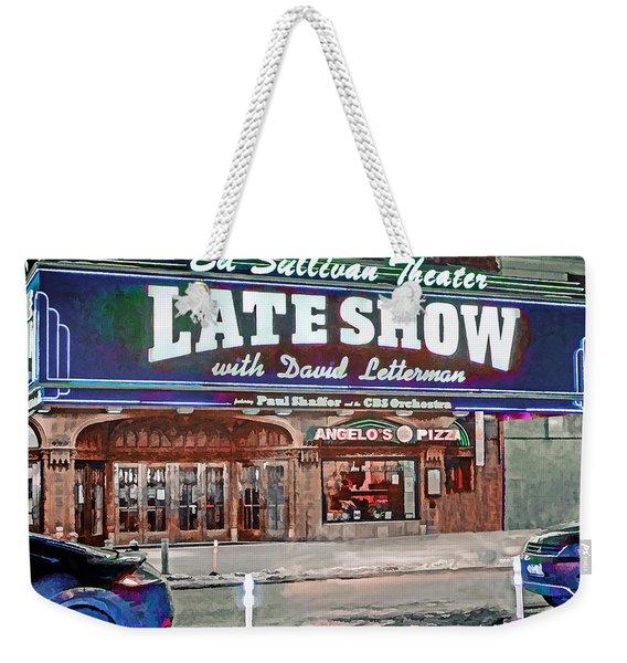 Ed Sullivan Theater Weekender Tote Bag