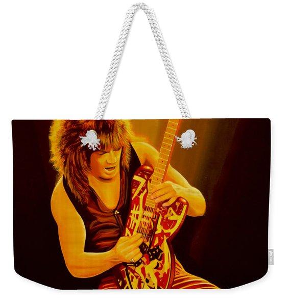 Eddie Van Halen Painting Weekender Tote Bag