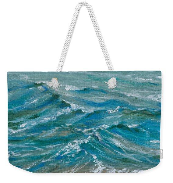 Edge Of The Tide Weekender Tote Bag