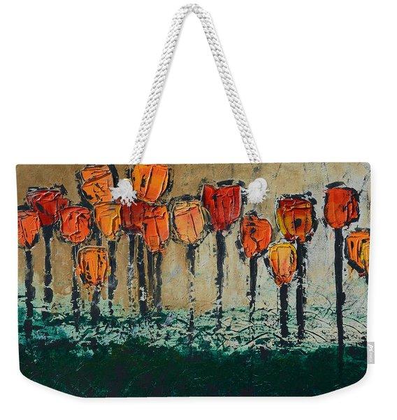 Edgey Tulips Weekender Tote Bag