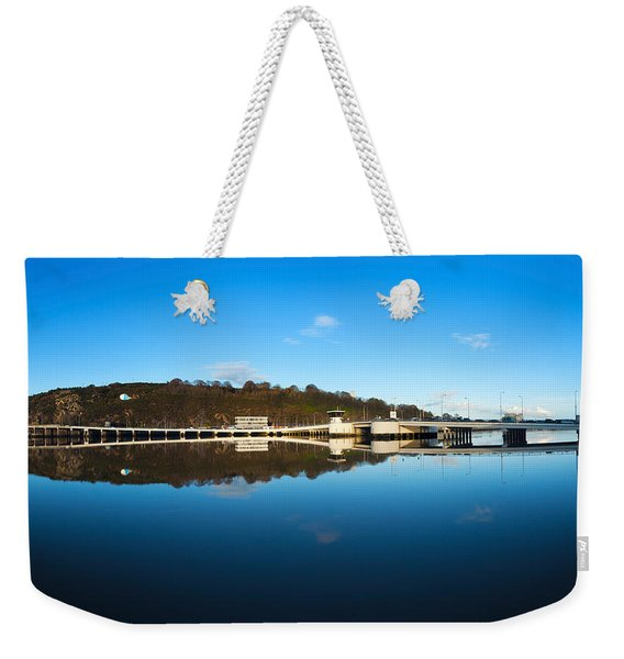Edmund Rice Bridge Across A River Weekender Tote Bag