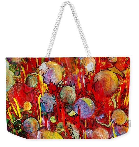 Weekender Tote Bag featuring the painting Effervesce by Nancy Cupp