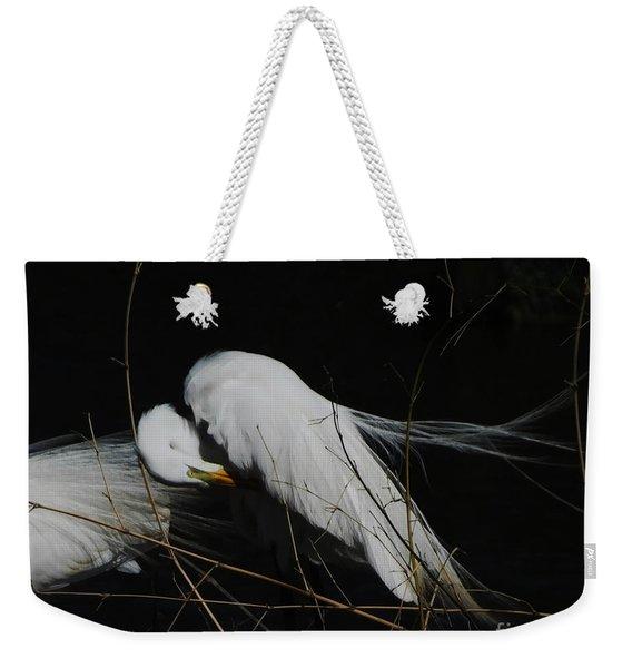 Egret Bird City At Avery Island Louisiana Weekender Tote Bag