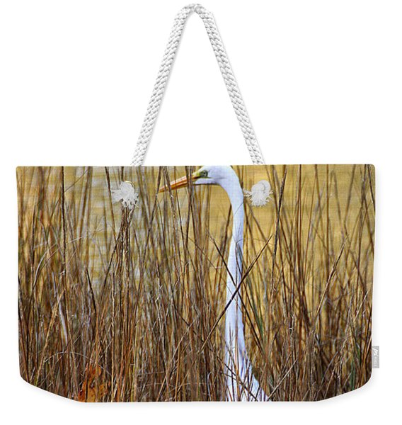 Egret In The Grass Weekender Tote Bag