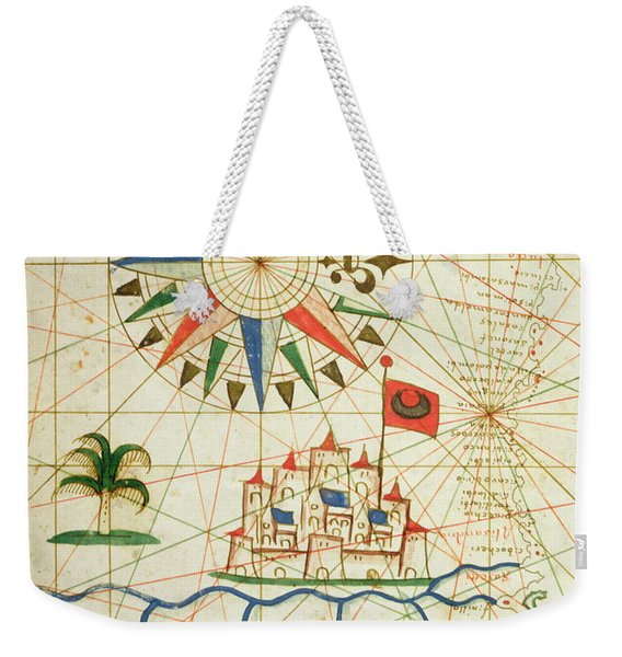Egypt, The River Nile And Cairo, From A Nautical Atlas, 1646 Ink On Vellum  Weekender Tote Bag
