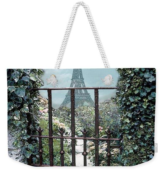 Eiffel Garden In Blue Weekender Tote Bag
