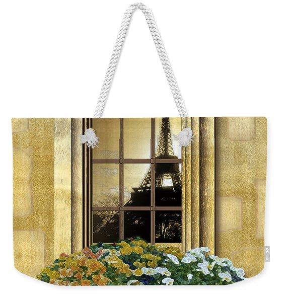 Eiffel Reflection Weekender Tote Bag