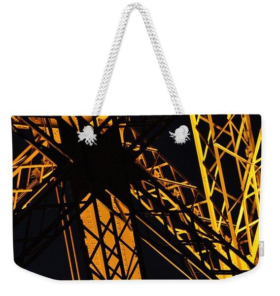 Eiffel Tower Detail Weekender Tote Bag