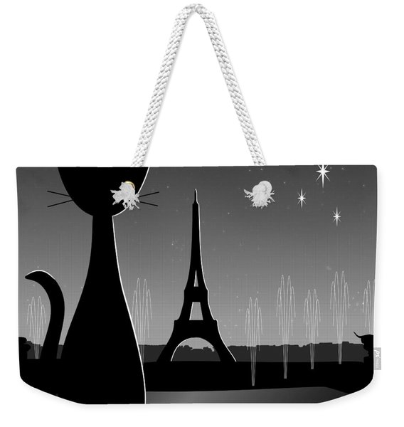 Weekender Tote Bag featuring the digital art Eiffel Tower by Donna Mibus