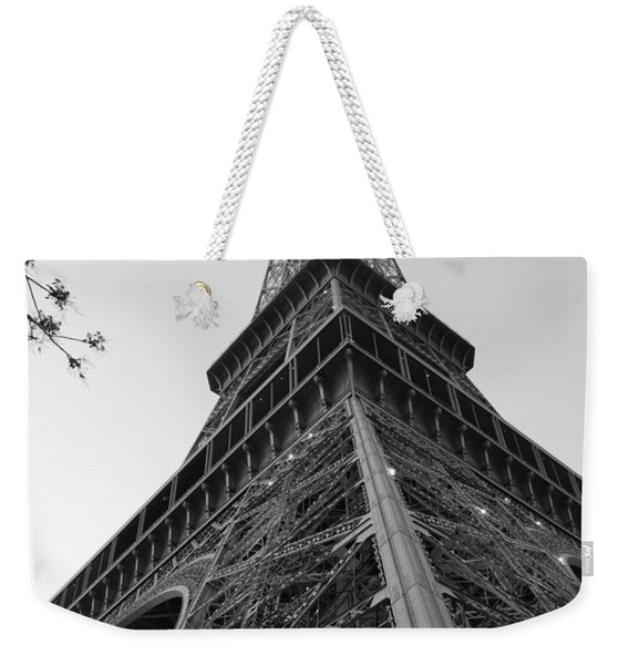 Eiffel Tower In Black And White Weekender Tote Bag
