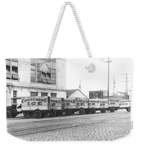Eight Parked Ice Trucks Weekender Tote Bag