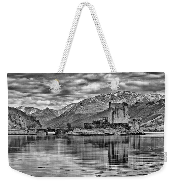 Eilean Donan - A Reflection Without Colour Weekender Tote Bag