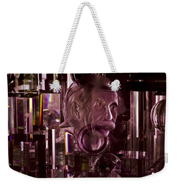 Einstein In Crystal - Purple Weekender Tote Bag