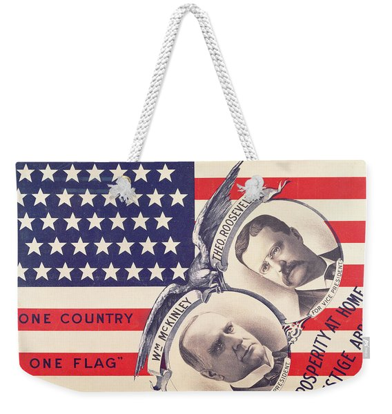 Electoral Poster For The American Presidential Election Of 1900 Weekender Tote Bag