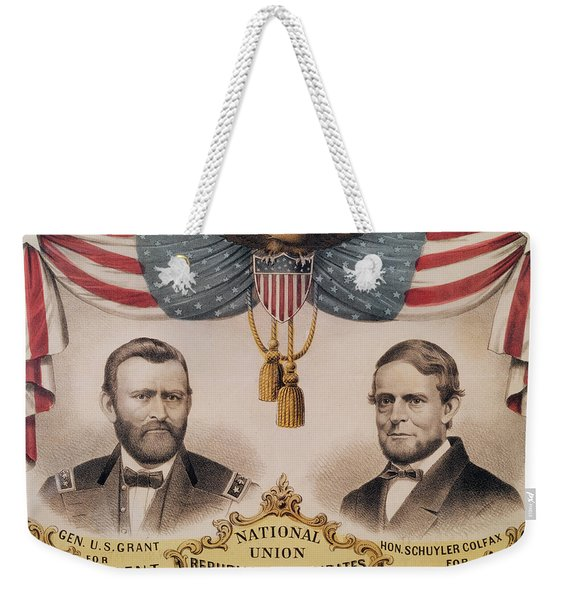 Electoral Poster For The Usa Presidential Election Of 1868 Weekender Tote Bag