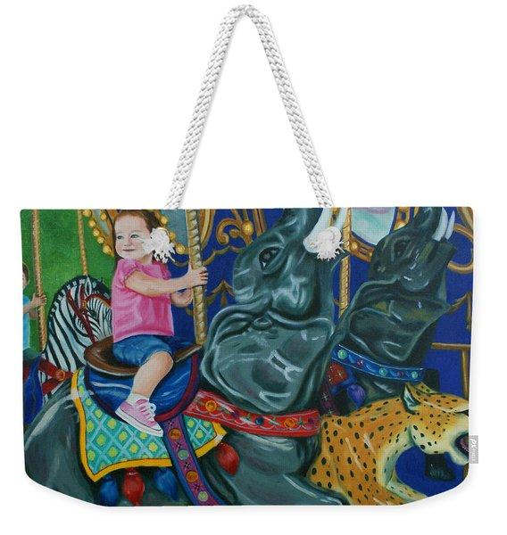 Elephant Ride Weekender Tote Bag