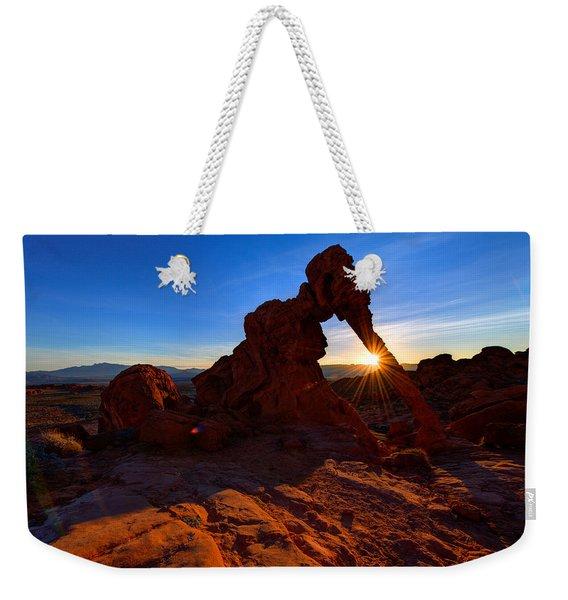 Elephant Sunrise Weekender Tote Bag