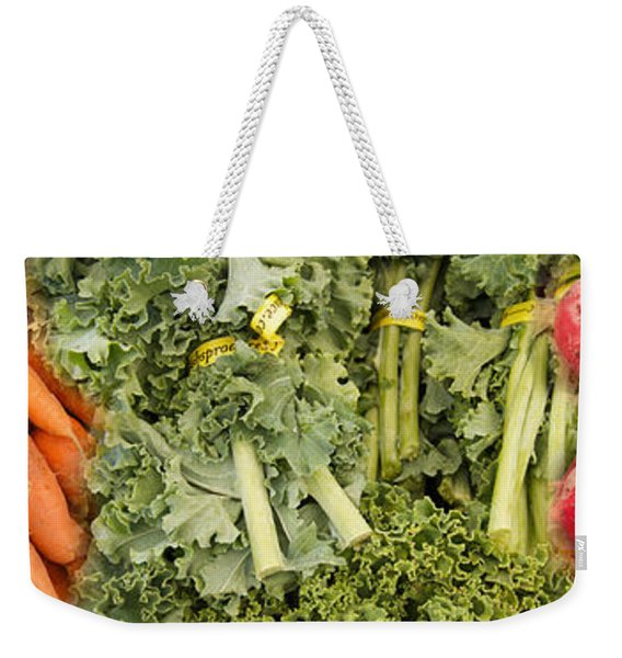Elevated View Of Vegetables At Market Weekender Tote Bag