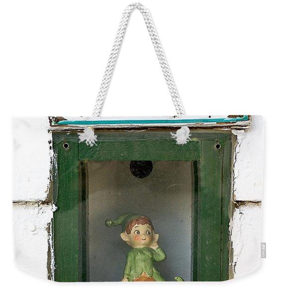 elf exit, Dubuque, Iowa Weekender Tote Bag