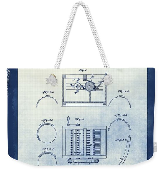 Eli Whitney's Cotton Gin Patent Weekender Tote Bag