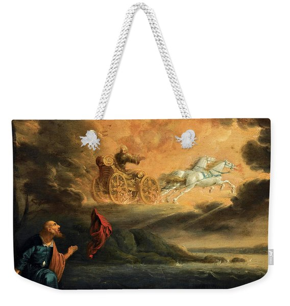 Elijah Taken Up Into Heaven In The Chariot Of Fire Weekender Tote Bag