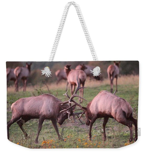 Elk Battle Weekender Tote Bag