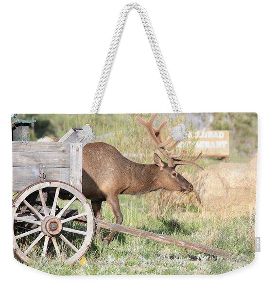 Elk Drawn Carriage Weekender Tote Bag