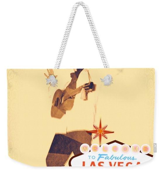 Elvis On Tv Weekender Tote Bag