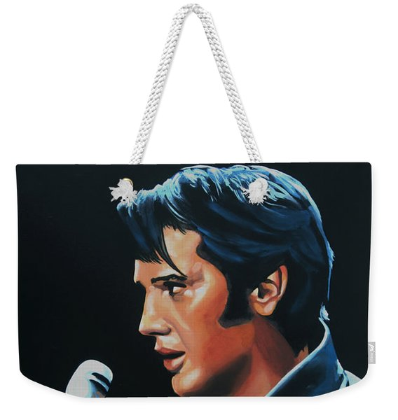 Elvis Presley 3 Painting Weekender Tote Bag