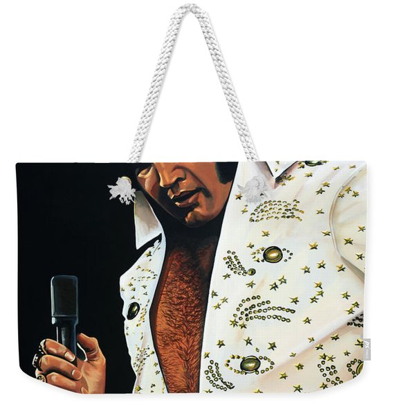 Elvis Presley Painting Weekender Tote Bag