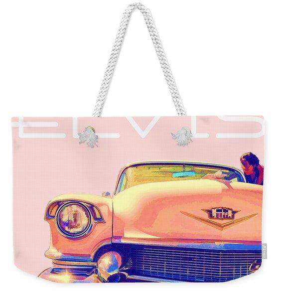 Elvis Presley Pink Cadillac Weekender Tote Bag