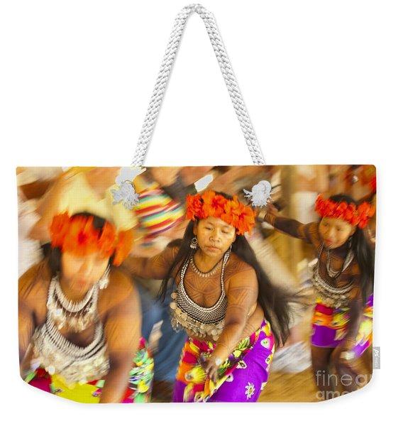 Embera Villagers In Panama Weekender Tote Bag