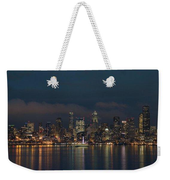 Emerald City At Night Weekender Tote Bag
