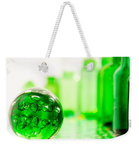 Emerald City I Square Weekender Tote Bag