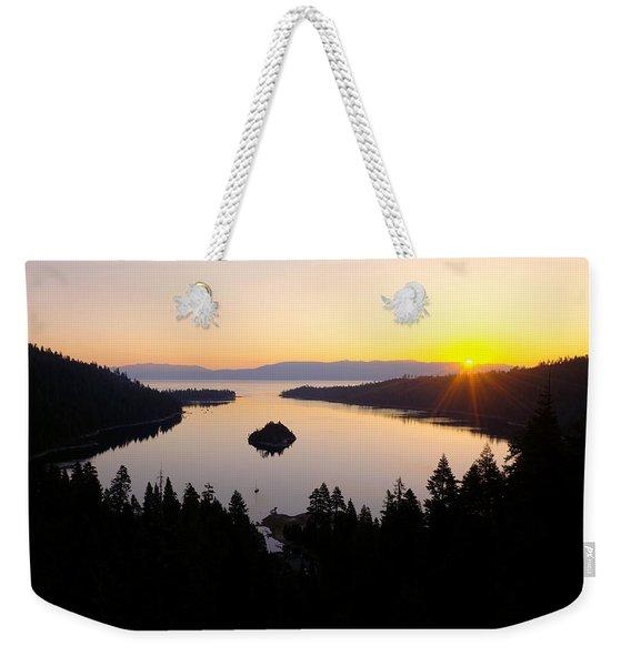 Emerald Dawn Weekender Tote Bag