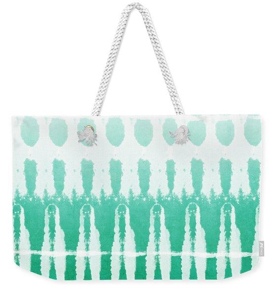 Emerald Ombre  Weekender Tote Bag