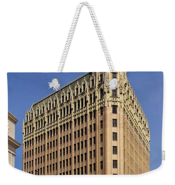 Weekender Tote Bag featuring the photograph Emily Morgan Hotel by Jemmy Archer
