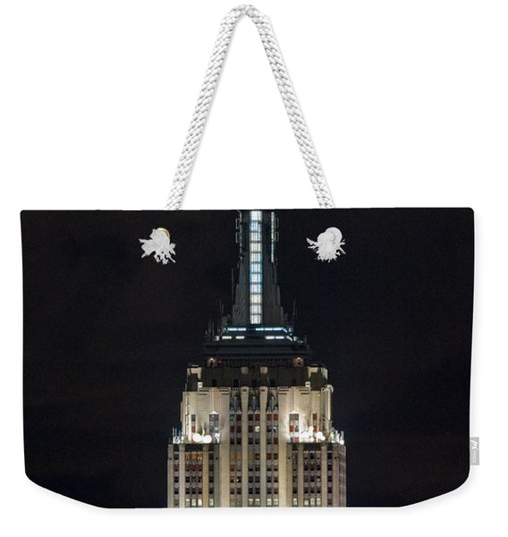 Empire State Building At Night Weekender Tote Bag