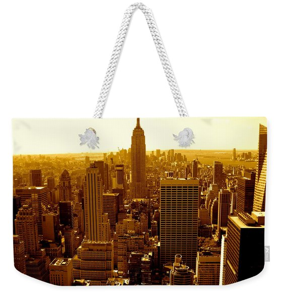 Manhattan And Empire State Building Weekender Tote Bag