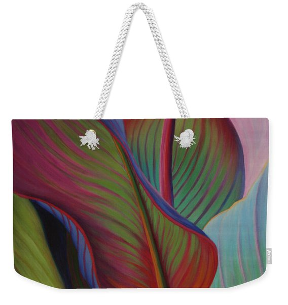 Weekender Tote Bag featuring the painting Encore by Sandi Whetzel