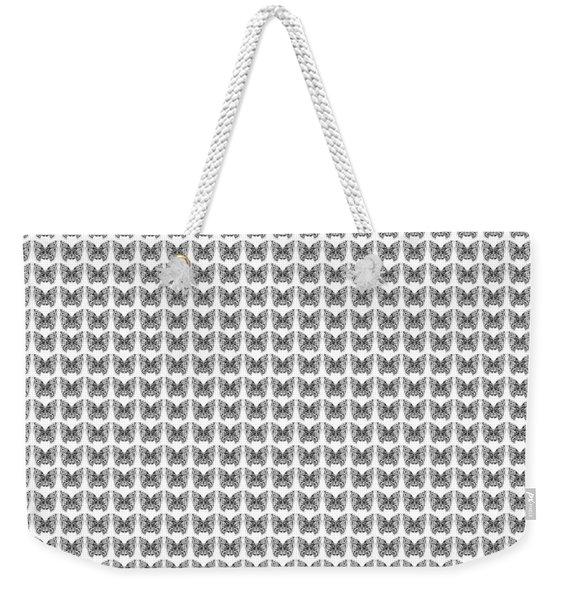 Endless Butterflies On White Weekender Tote Bag