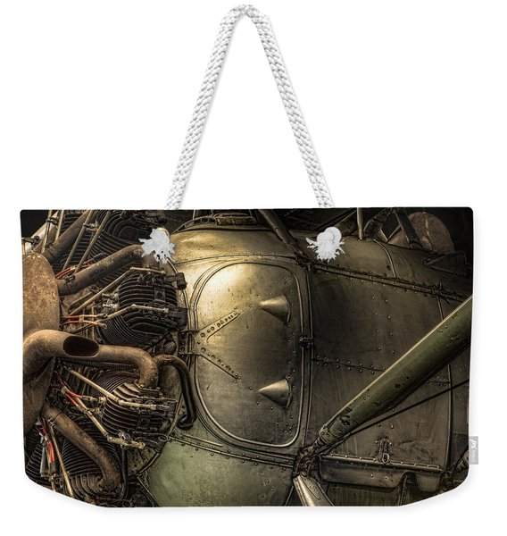 Radial Engine And Fuselage Detail - Radial Engine Aluminum Fuselage Vintage Aircraft Weekender Tote Bag