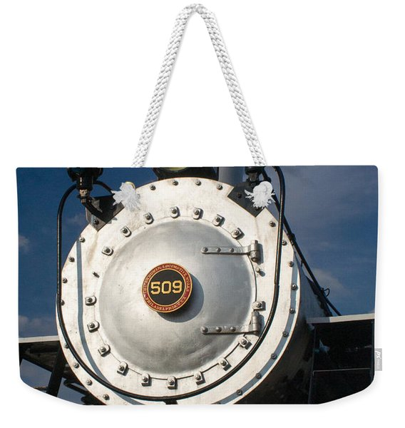 Engine Face Number 509 Weekender Tote Bag