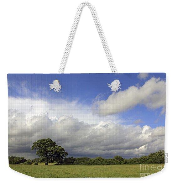 English Oak Under Stormy Skies Weekender Tote Bag