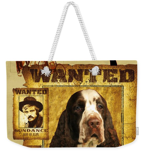 English Springer Spaniel Art Canvas Print - Butch Cassidy And The Sundance Kid Movie Poster Weekender Tote Bag