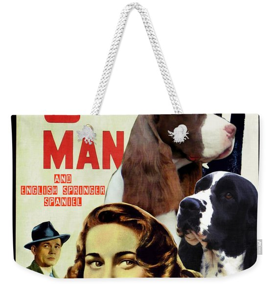 English Springer Spaniel Art Canvas Print - The Third Man Movie Poster Weekender Tote Bag